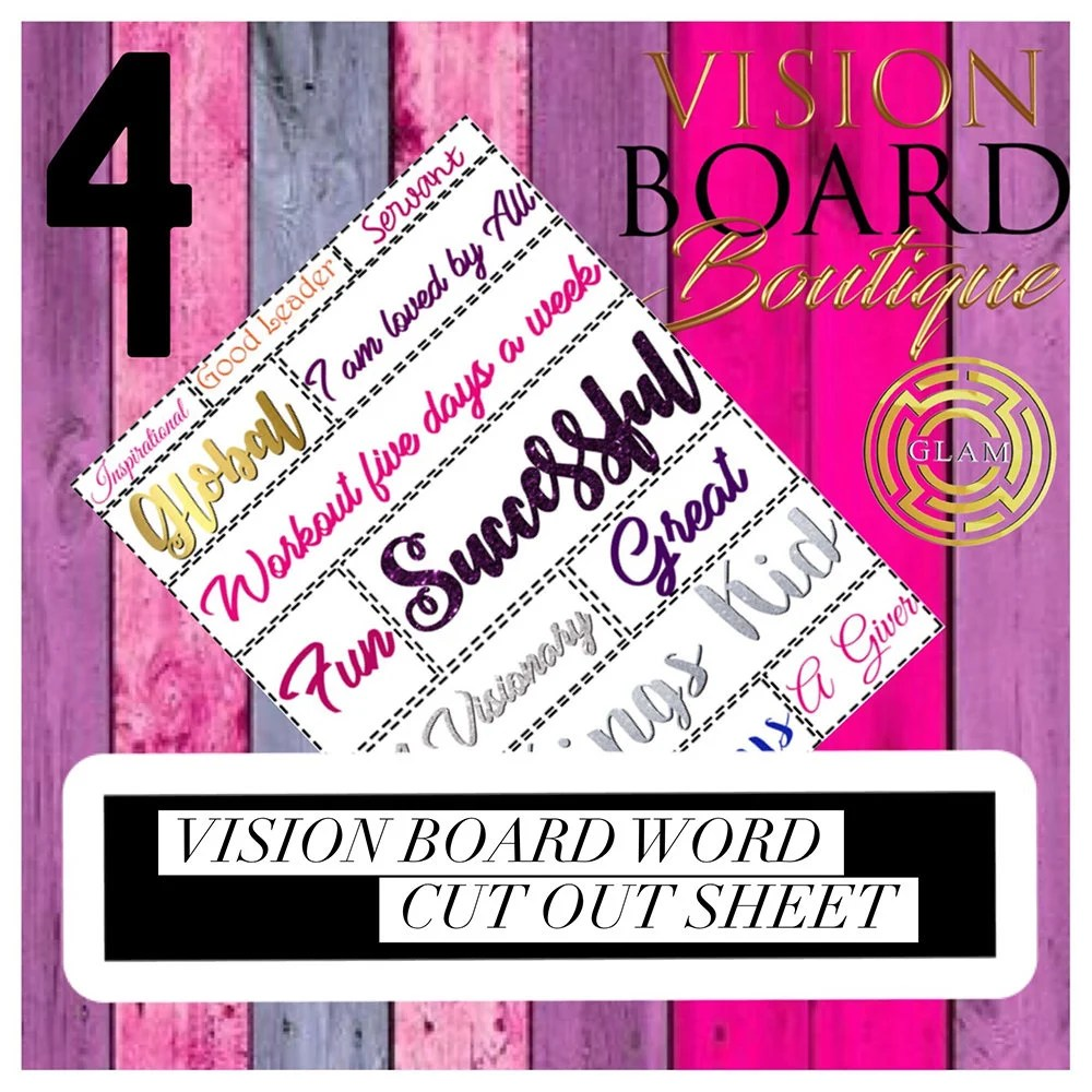 Vision Board Printable Worksheet Quotes Download Etsy