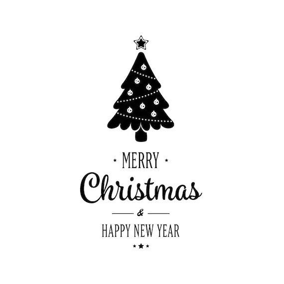Merry Christmas Happy new year Graphics SVG Dxf EPS Png Cdr Ai Etsy