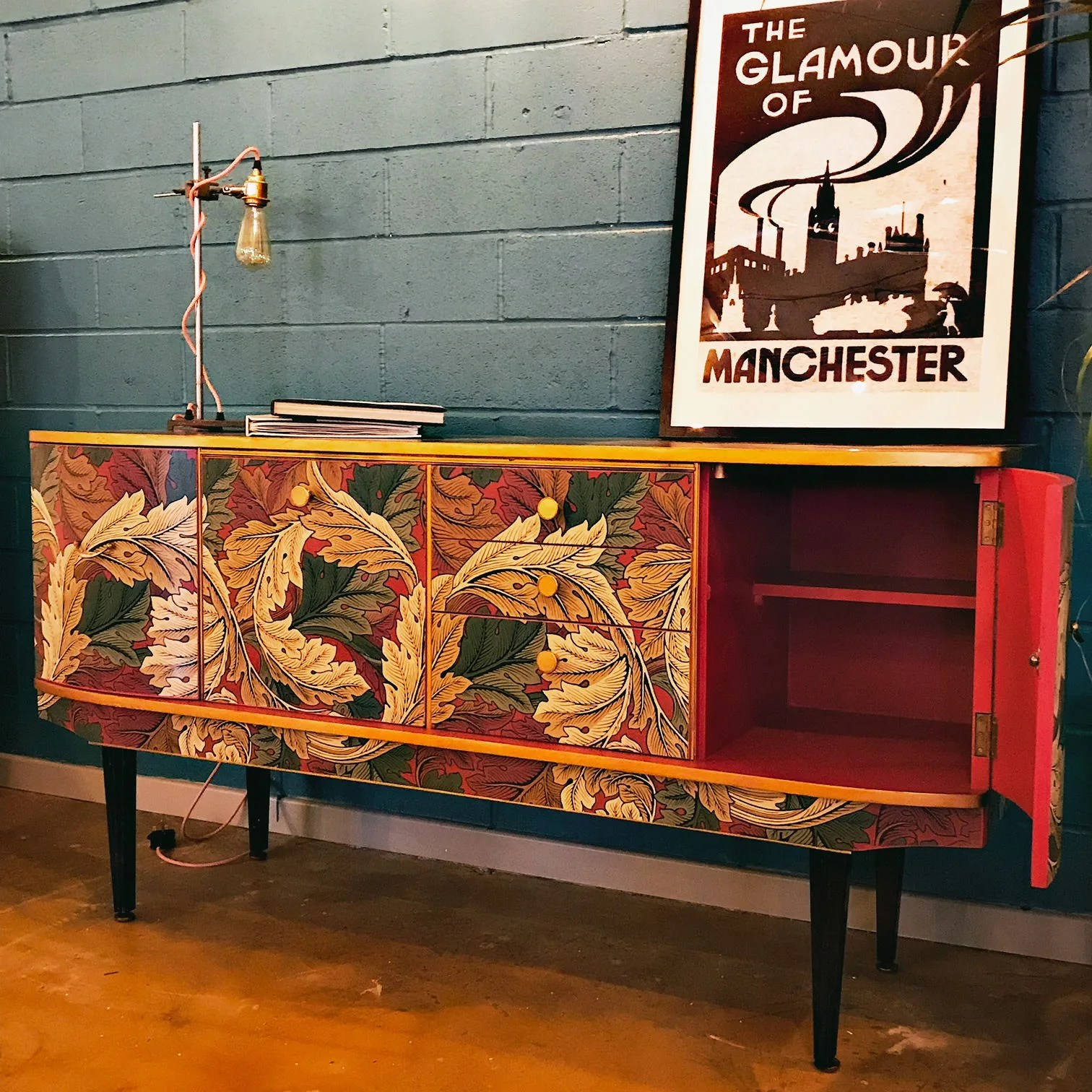 Vintage Sideboard For Sale Uk Sold Gorgeous Mid Century Vintage Sideboard With William Morris