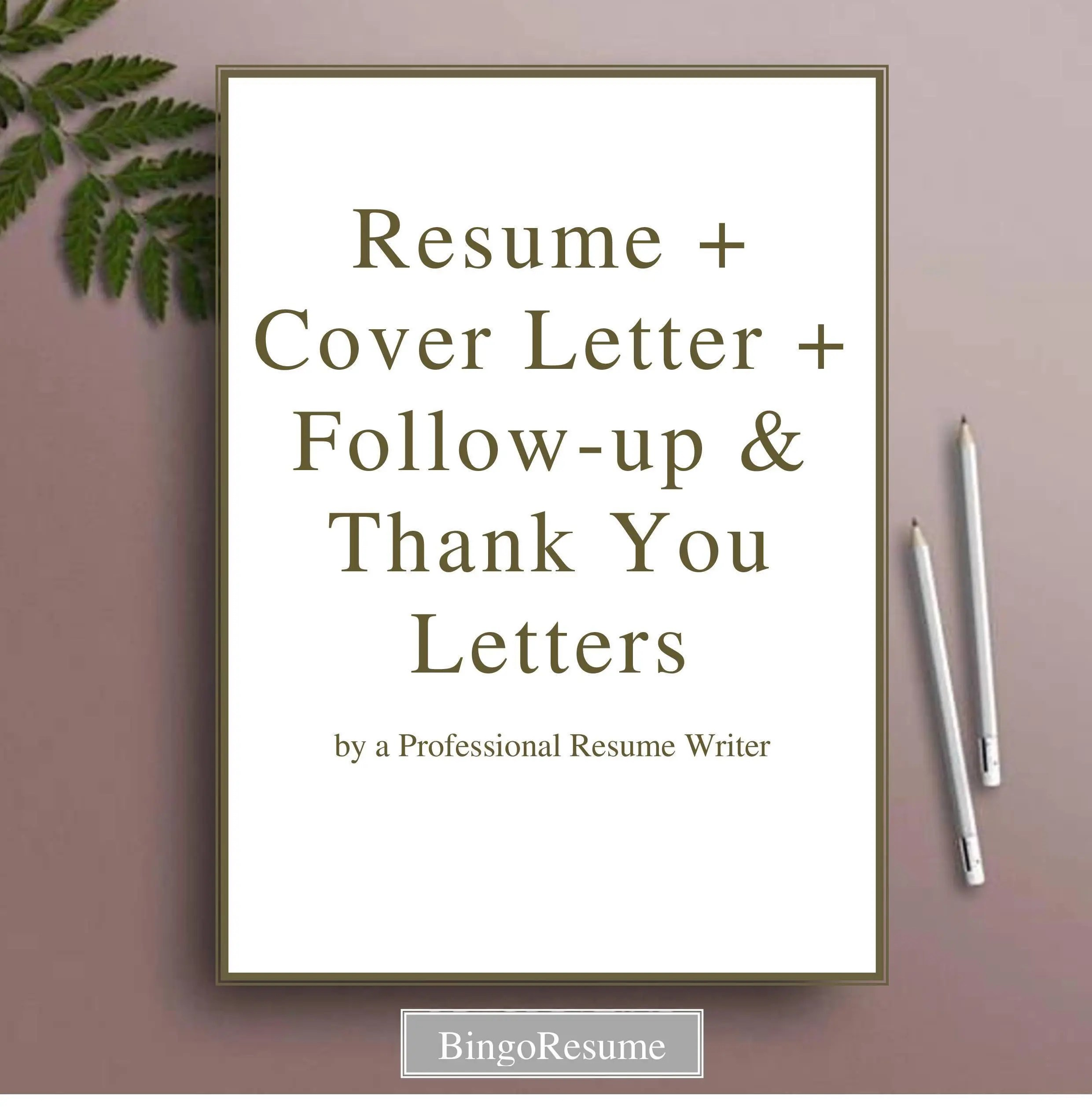 Resume  Cover Letter Follow-up and Thank You Letters Writing Etsy