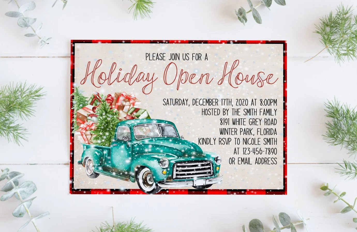Holiday Open House Invitation Template Christmas Open House