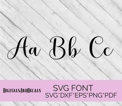 Pretty SVG Fonts For Cricut Hand Lettered SVG Wedding Font ...