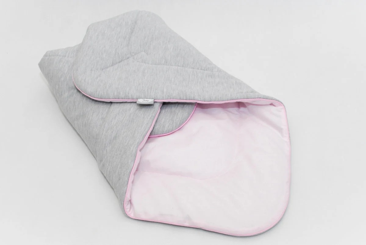 Baby Born Bettwäsche Newborn Baby Swaddle Wrap Pastel Pink Gray Knitwear Pink Swaddle Wrap New Born Swaddle