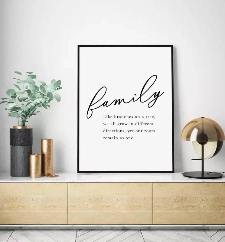 Family Wall Art Printable Wall Art Word Wall Art Family Etsy