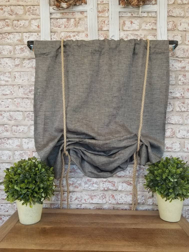 Leinen-vorhang Intermezzo Dark Grey Curtains Flisol Home