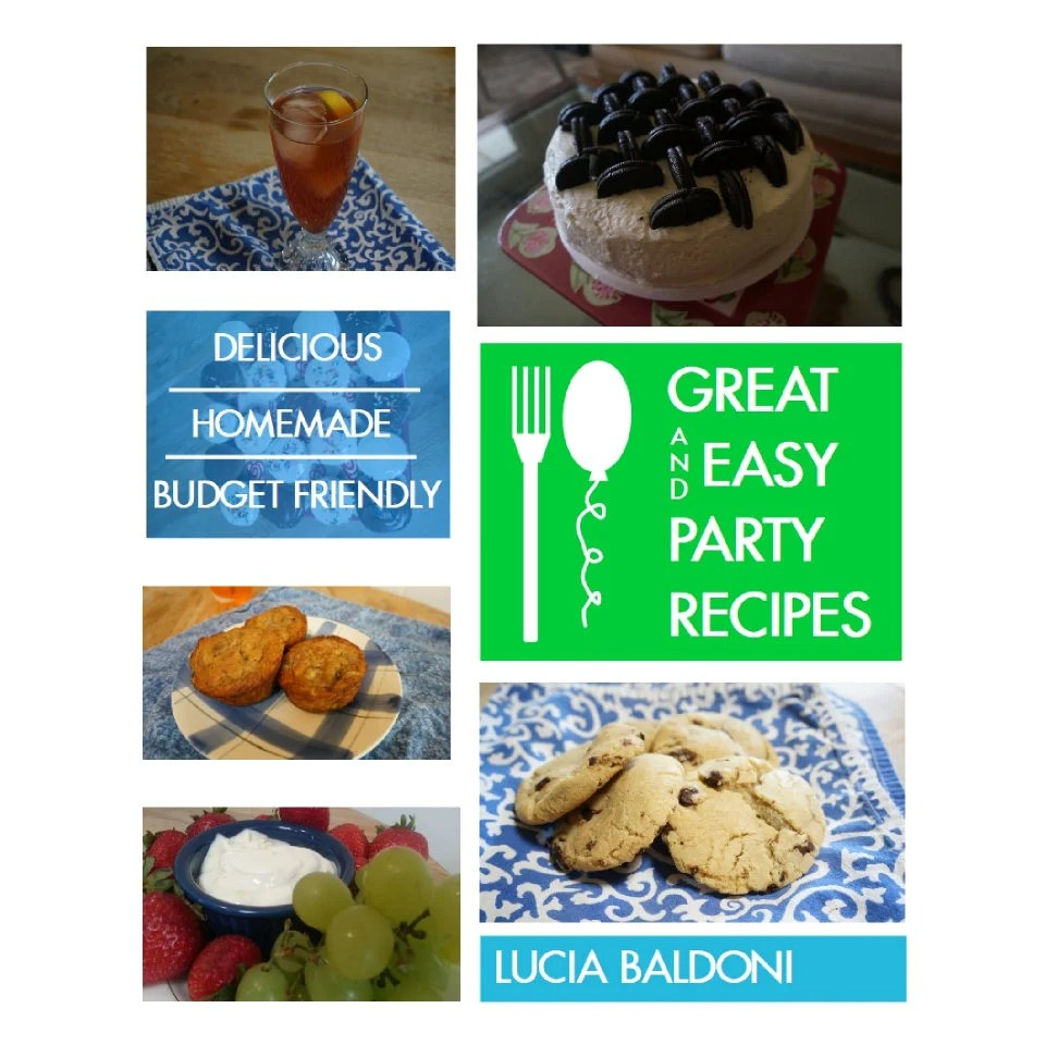 Great  Easy Party Recipes Downloadable Recipe Book With Etsy