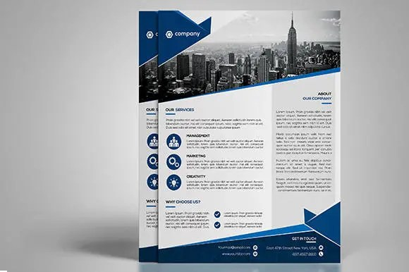 Corporate Flyer Template Printable Marketing Flyer PSD Etsy