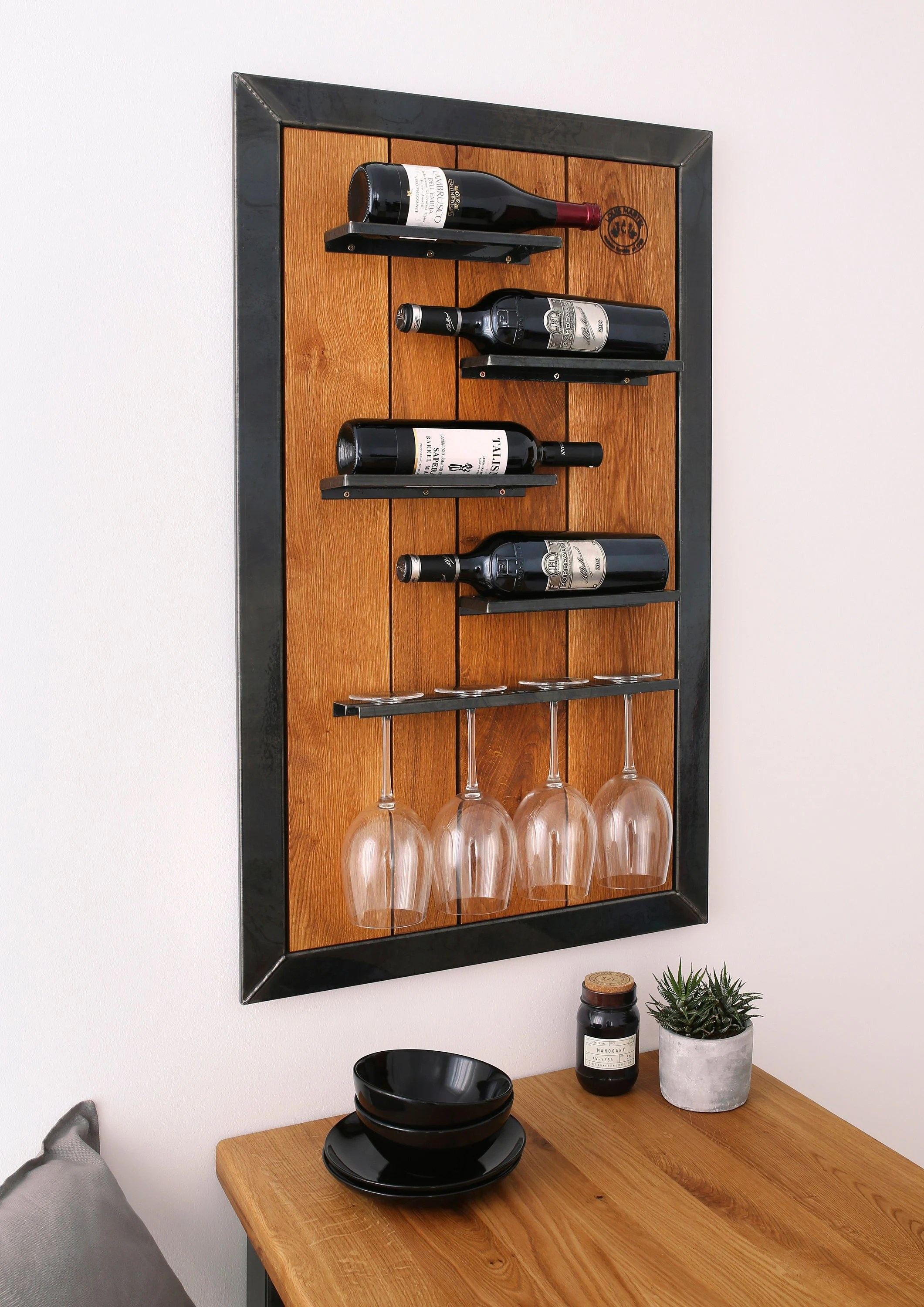 Eiche Wandregal Weinregal Wein Eiche Wandregal Louis Martel Flaschenregal Weinschrank Glas Regal