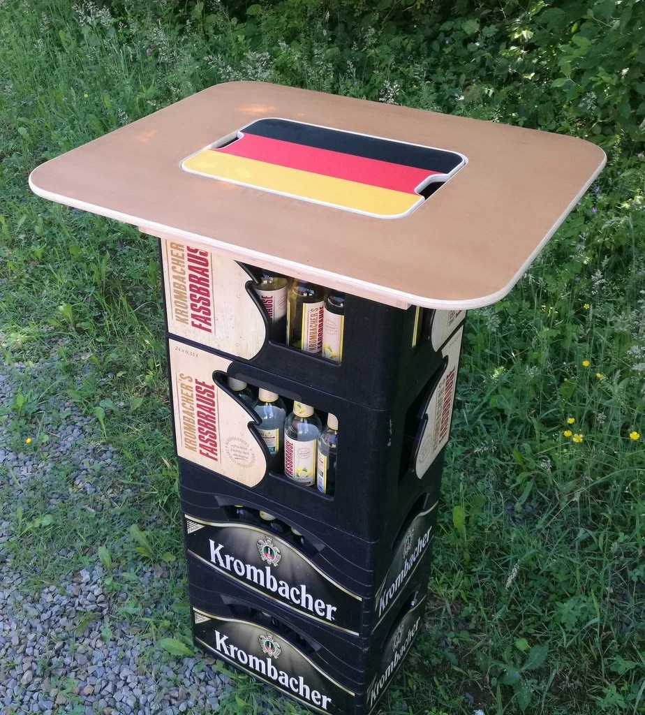 Couchtisch Aus Bierkisten Beer Box Tower Football