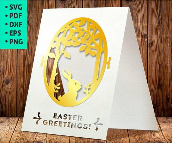 Easter Card SVG Easter Cards Template SVG Easter invitation Etsy