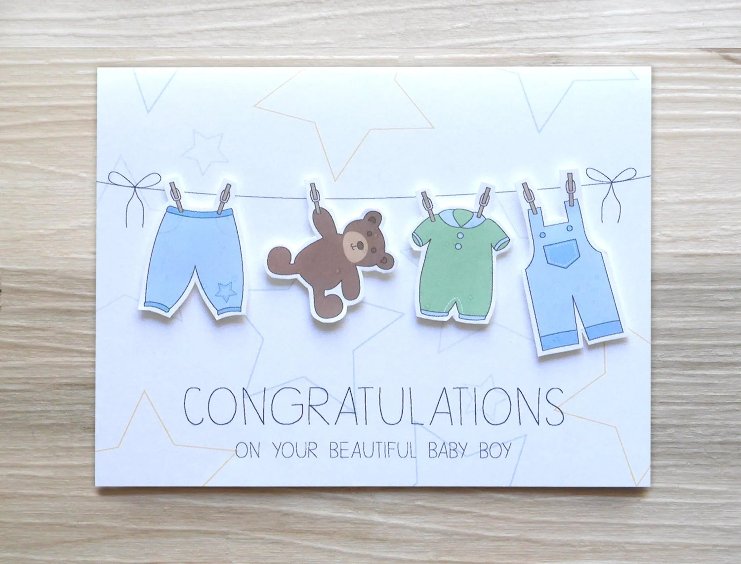 Congrats On Your Baby Boy Beautiful Baby Boy Card Baby Etsy