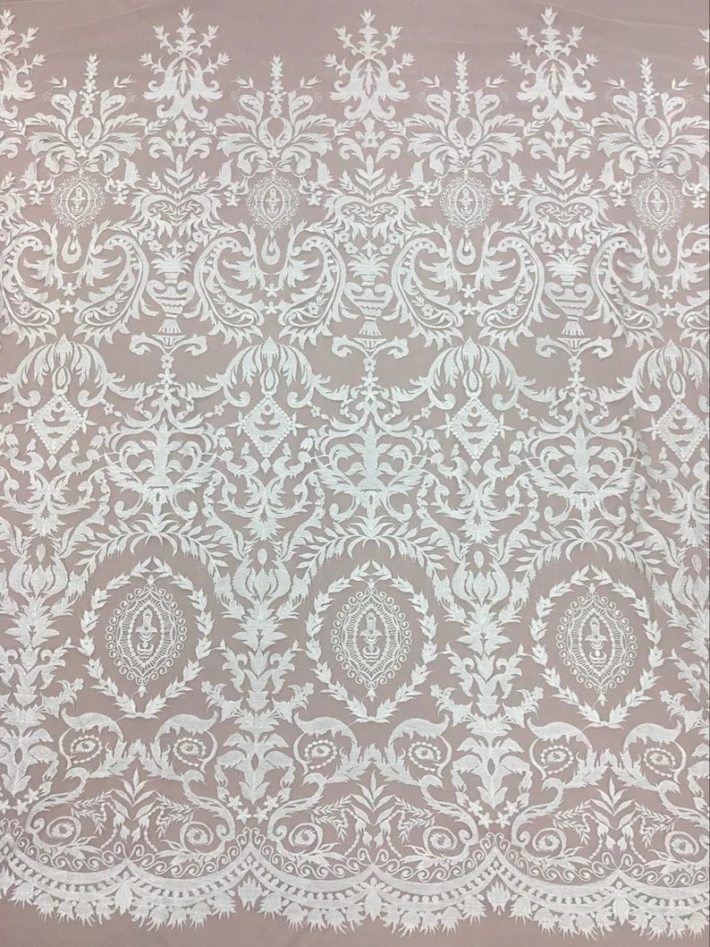 Stoff Spitze Spitze Stoff Hochzeitskleid Spitze Stoff Die Braut Spitze Stoff Embroidered Fabric Bridal Lace Fabric Guipure Lace Fabric Off White Lace