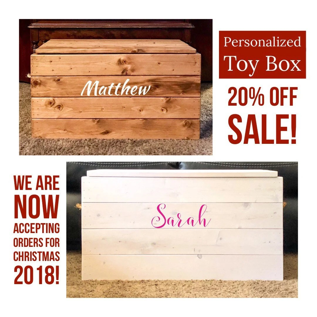 Toy Chests Handcrafted Wooden Toy Chest Personalized