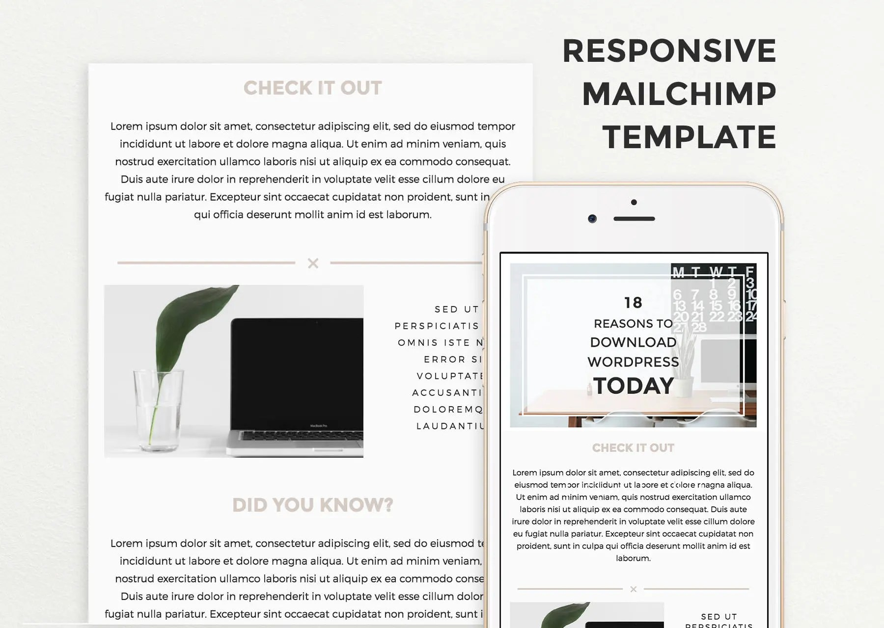 Email Template for Mailchimp Responsive Email Design Email Etsy