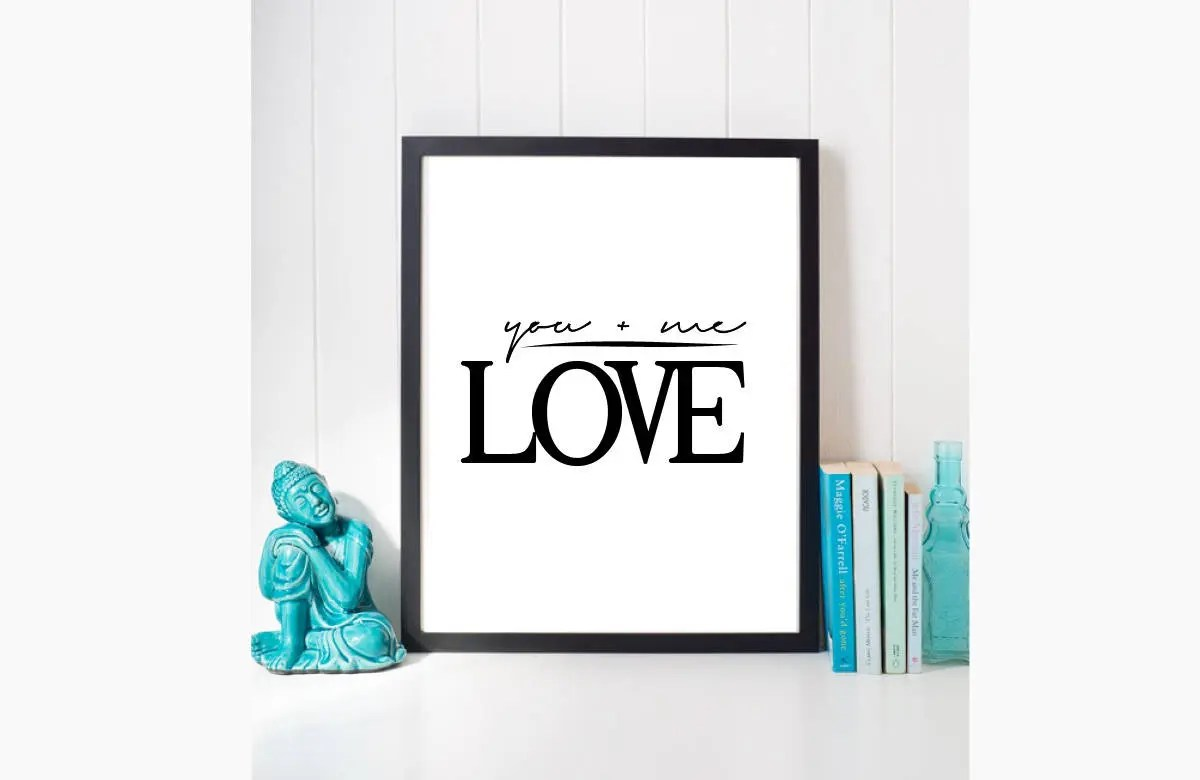 You and Me Print Love Prints Anniversary Card Love Etsy