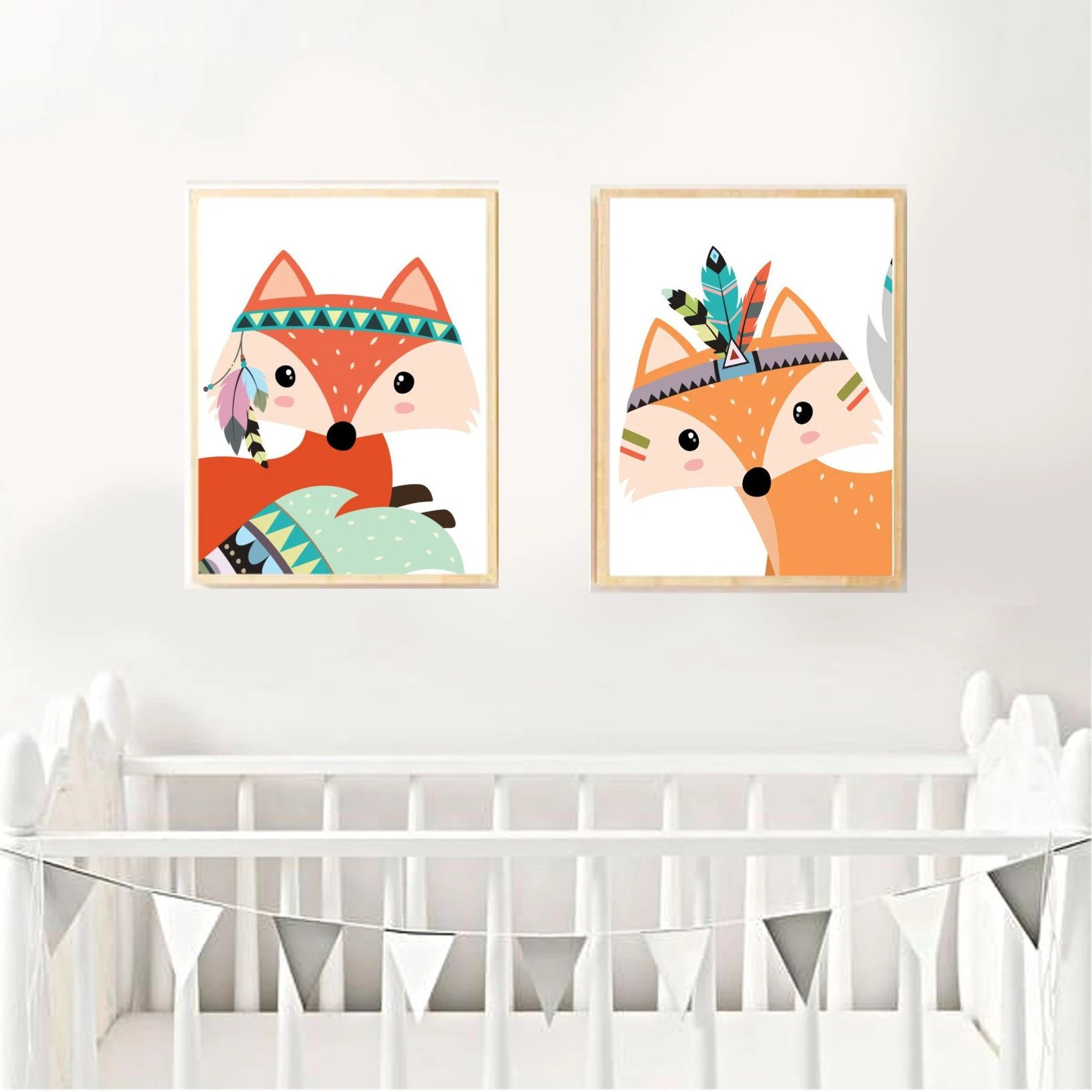 Kinderzimmer Indianer Poster Kinderzimmer Thema Fox Indianer Oder Tribal