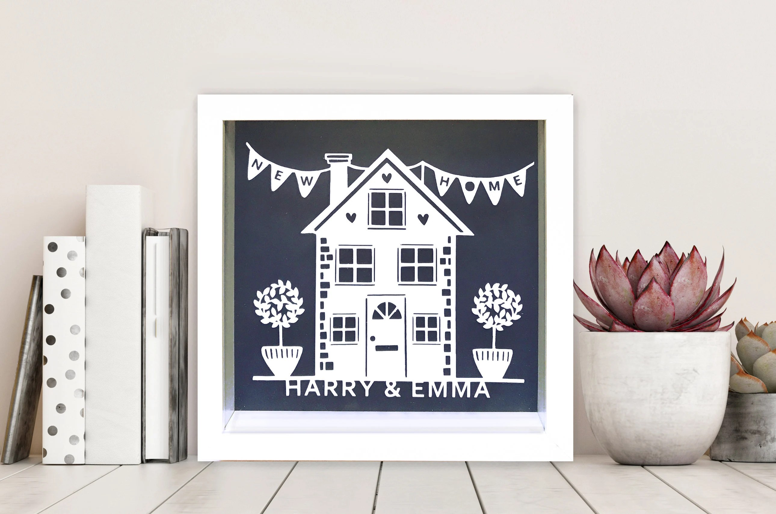Personalised New Home Gifts Personalised New Home Gift Paper Cut Frame First Home Housewarming Gift Gift For Couples Home Sweet Home Home Decor Custom Made Gift