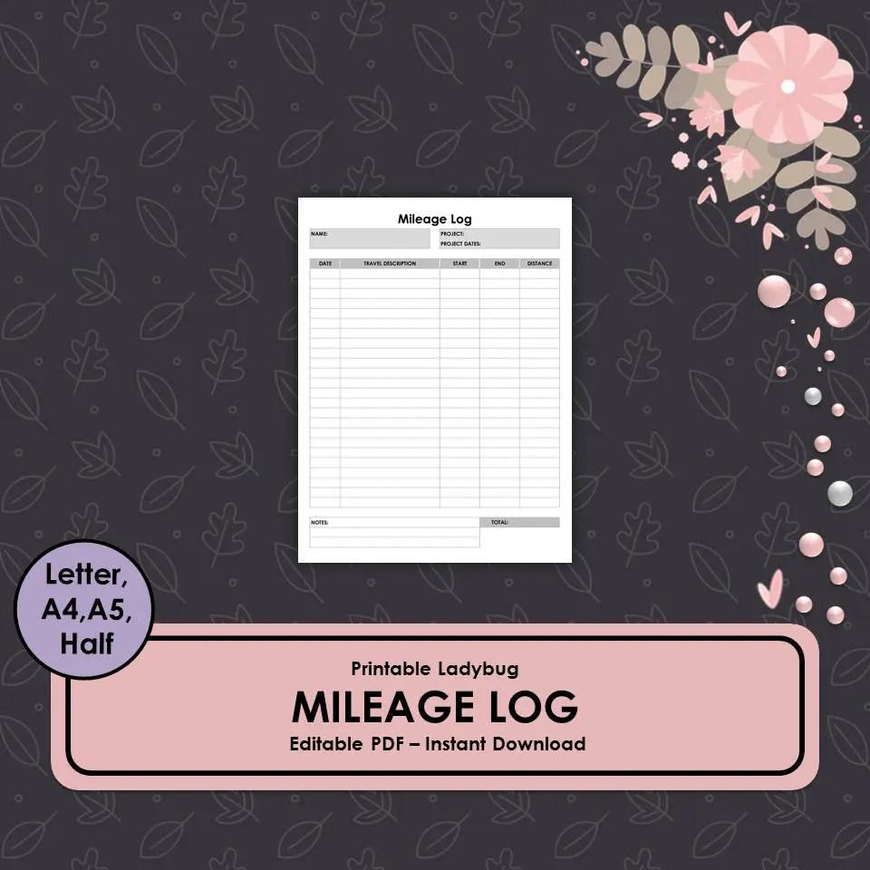 Mileage LogMileage TrackerMileage BookMileage Etsy
