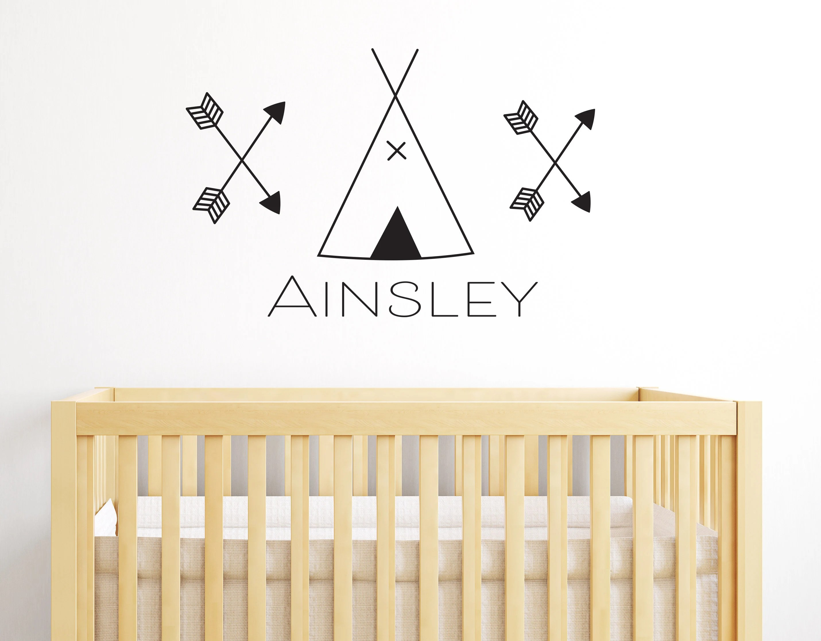 Hellglas Home Décor Items Awesome Teepee Arrow Stickers Boys Girls Bedroom Kids Nursery Teepees Wall Decal Kisetsu-system.co.jp