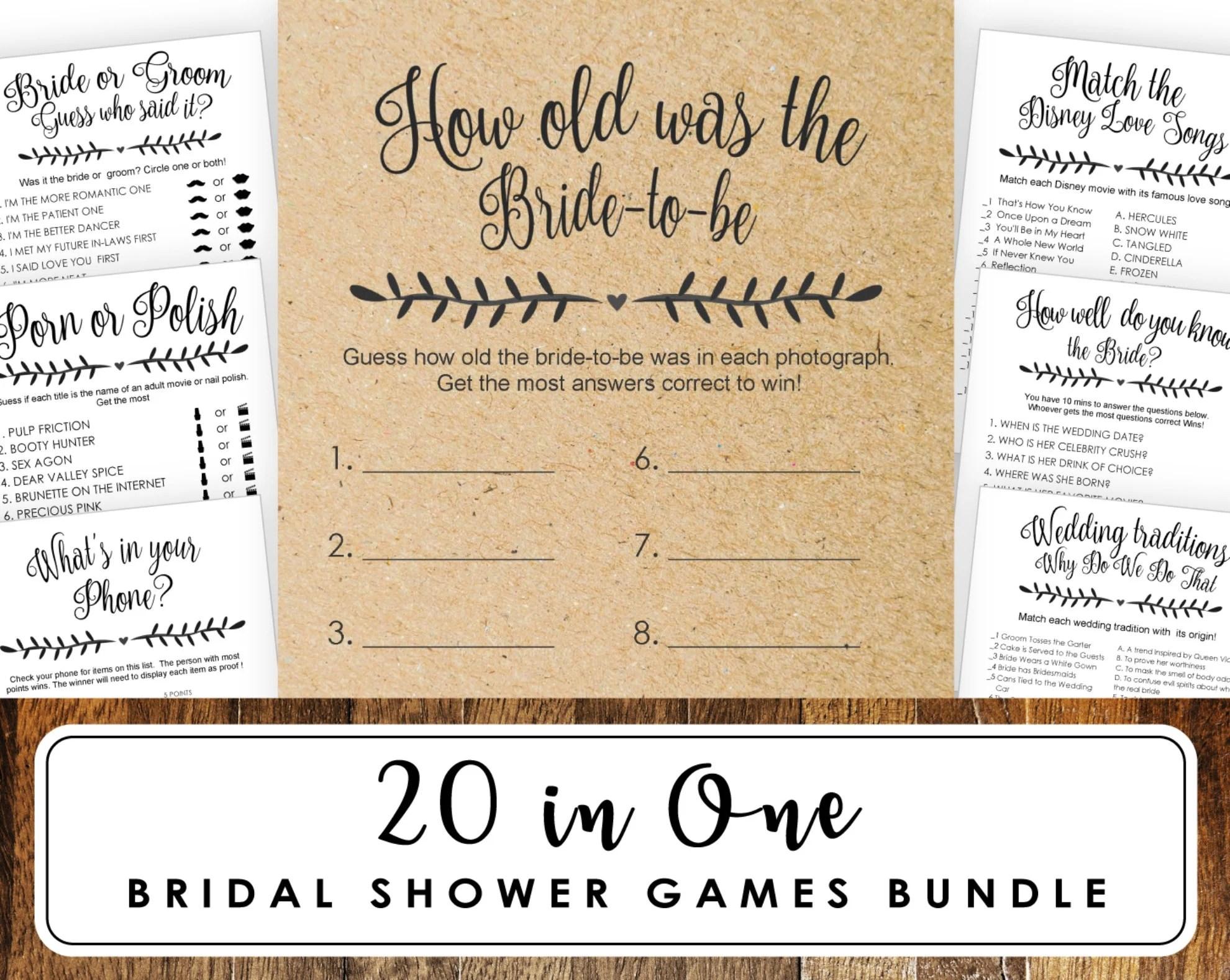 Bachelorette scavenger hunt bridal shower game printable Etsy