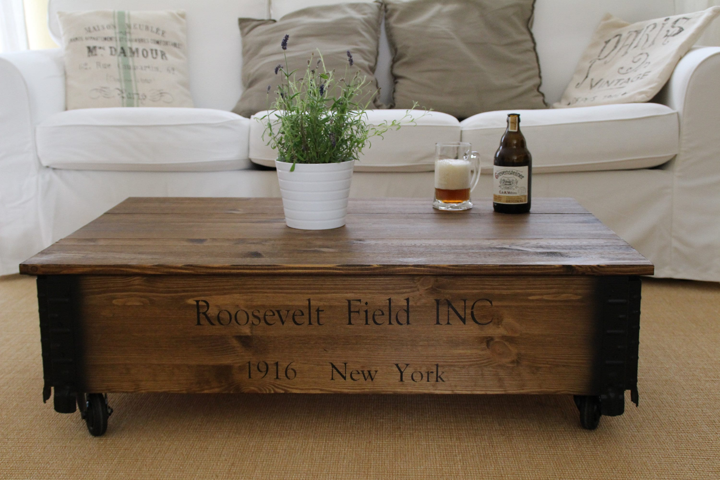 Shabby Chic Vintage Couchtisch Coffee Table Chest Wooden Box Vintage Shabby Chic