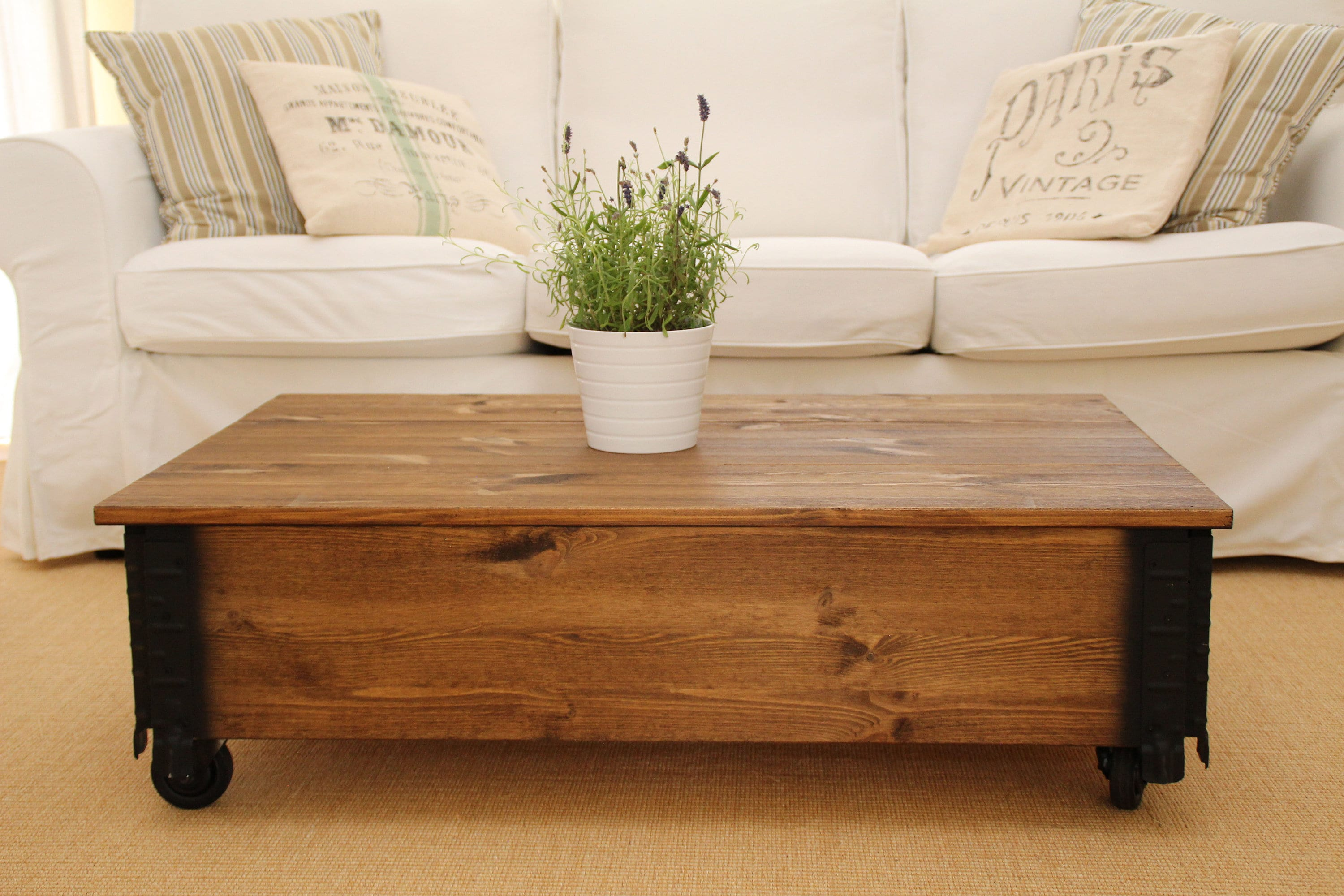 Dawanda Couchtisch Vintage Coffee Table Chest Wooden Box Vintage Shabby Chic
