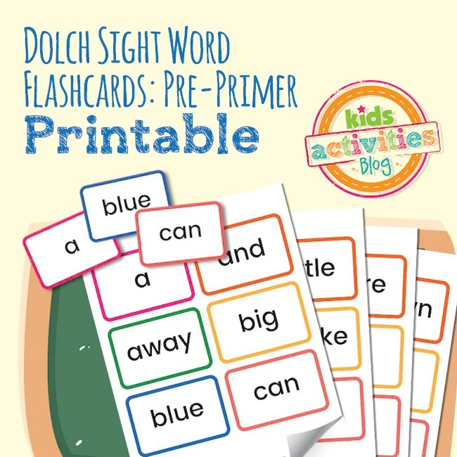 Dolch Sight Word Flashcards Pre-Primer Words Etsy