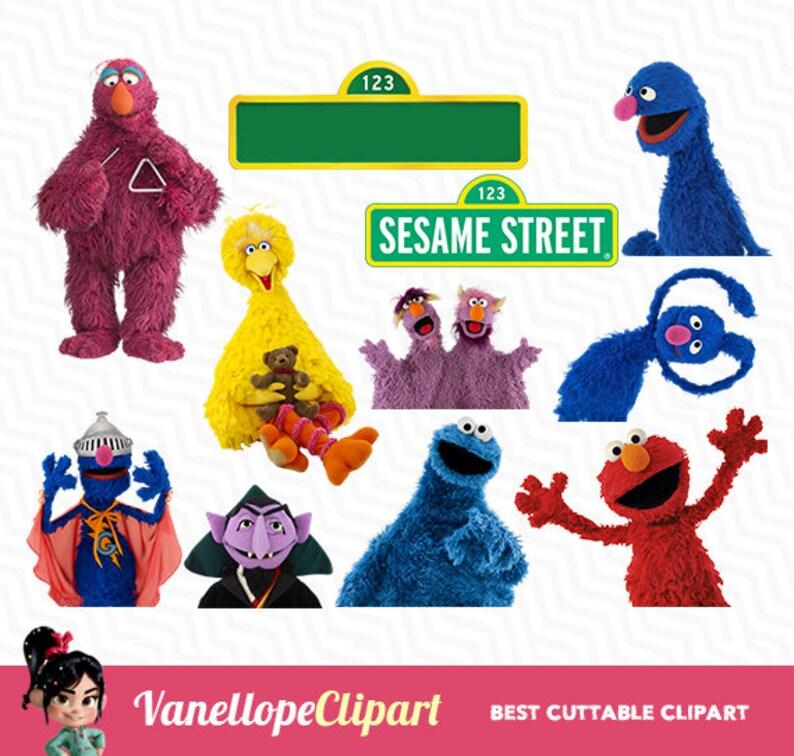 Sesame Street Sesame street PNG Digital Sesame Street Clip Etsy
