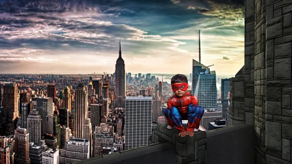 Superhero Digital Background Spiderman Cosplay Backdrop New Etsy