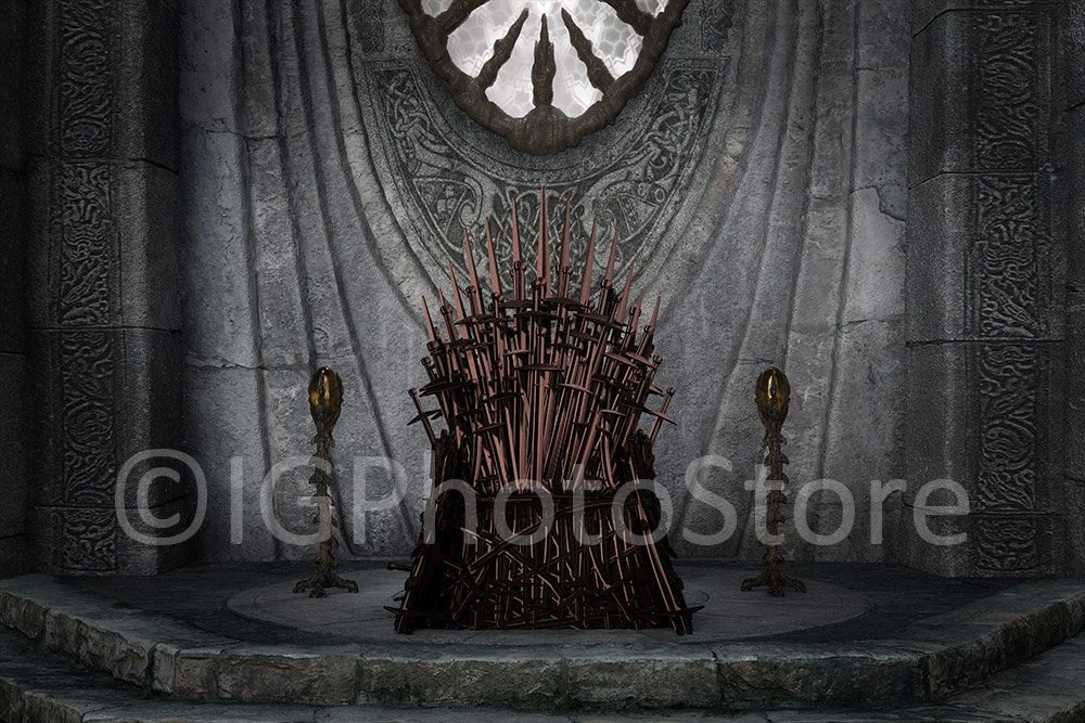 Iron Throne Digital Backdrop Inspired by Game of Thrones Etsy