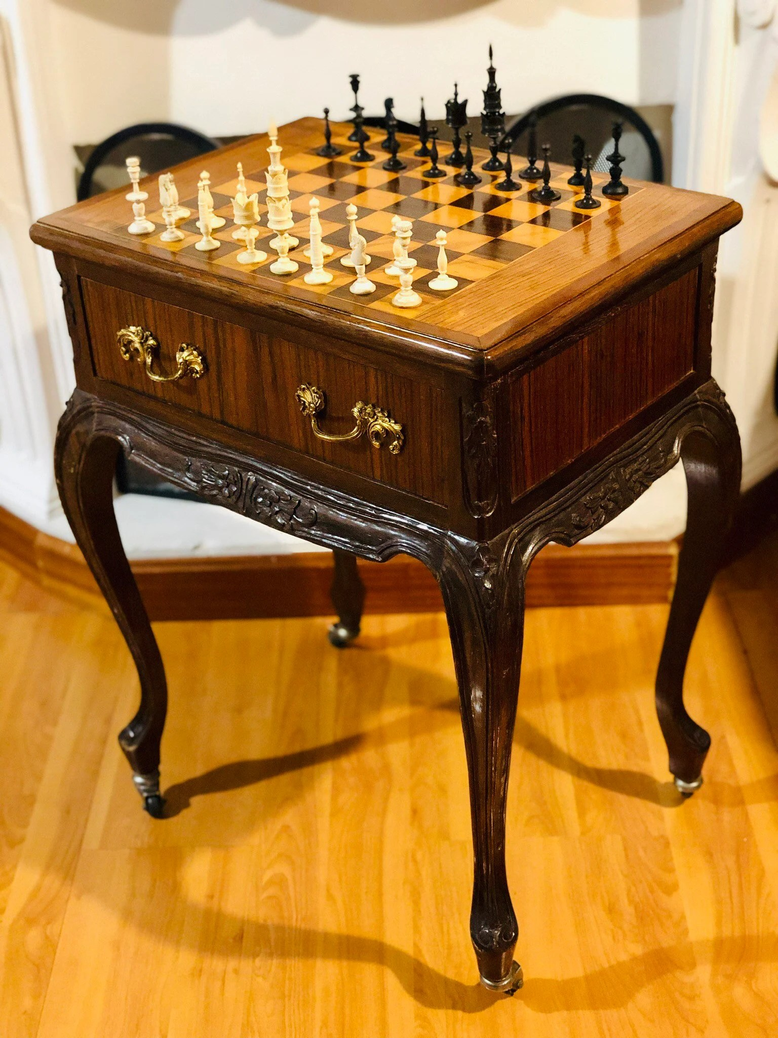 Chess Table Neoclassical Chess Table Selenus
