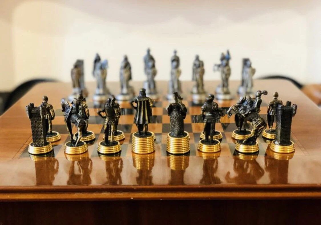 Gold Chess Pieces Chess Pieces Average Age Of Tin With Gold And Silver