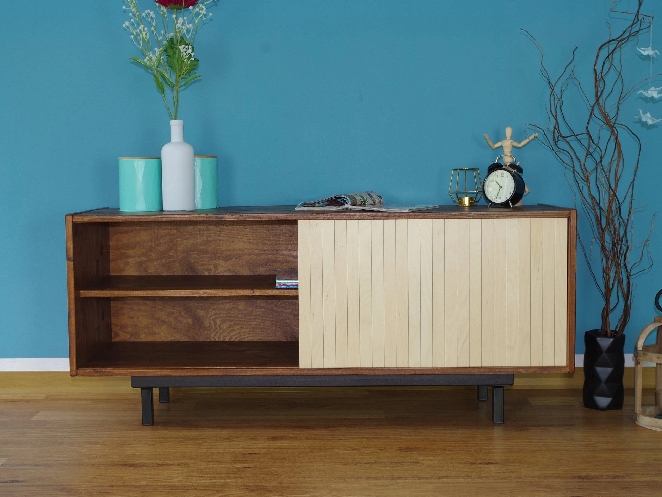 Hifi Lowboard Sideboard Century Vintage Retro Hi Fi Stand Table Lowboard Tv Commit 50s