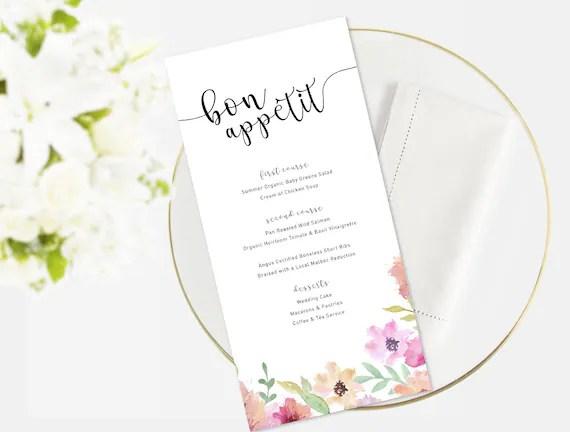 Wedding Menu Event Menu Menu Template Function Menu - event menu template