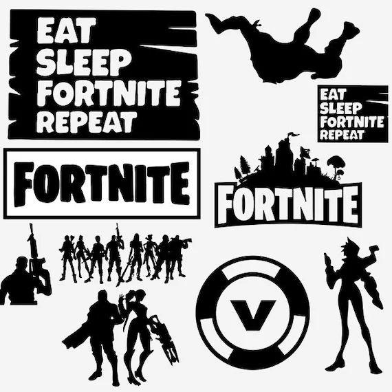 fortnite svg file fortnite logo fortnite cricut fortnite