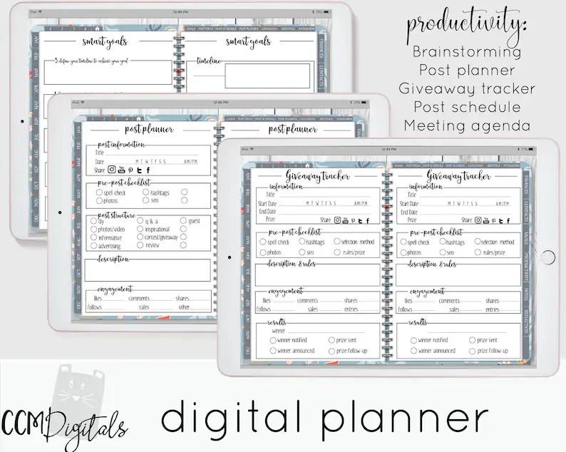 Digital Planner Goodnotes Planner iPad Planner Daily Etsy