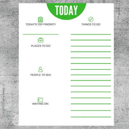 Today\u0027s Top Priority Daily Agenda Task List To Do List Etsy