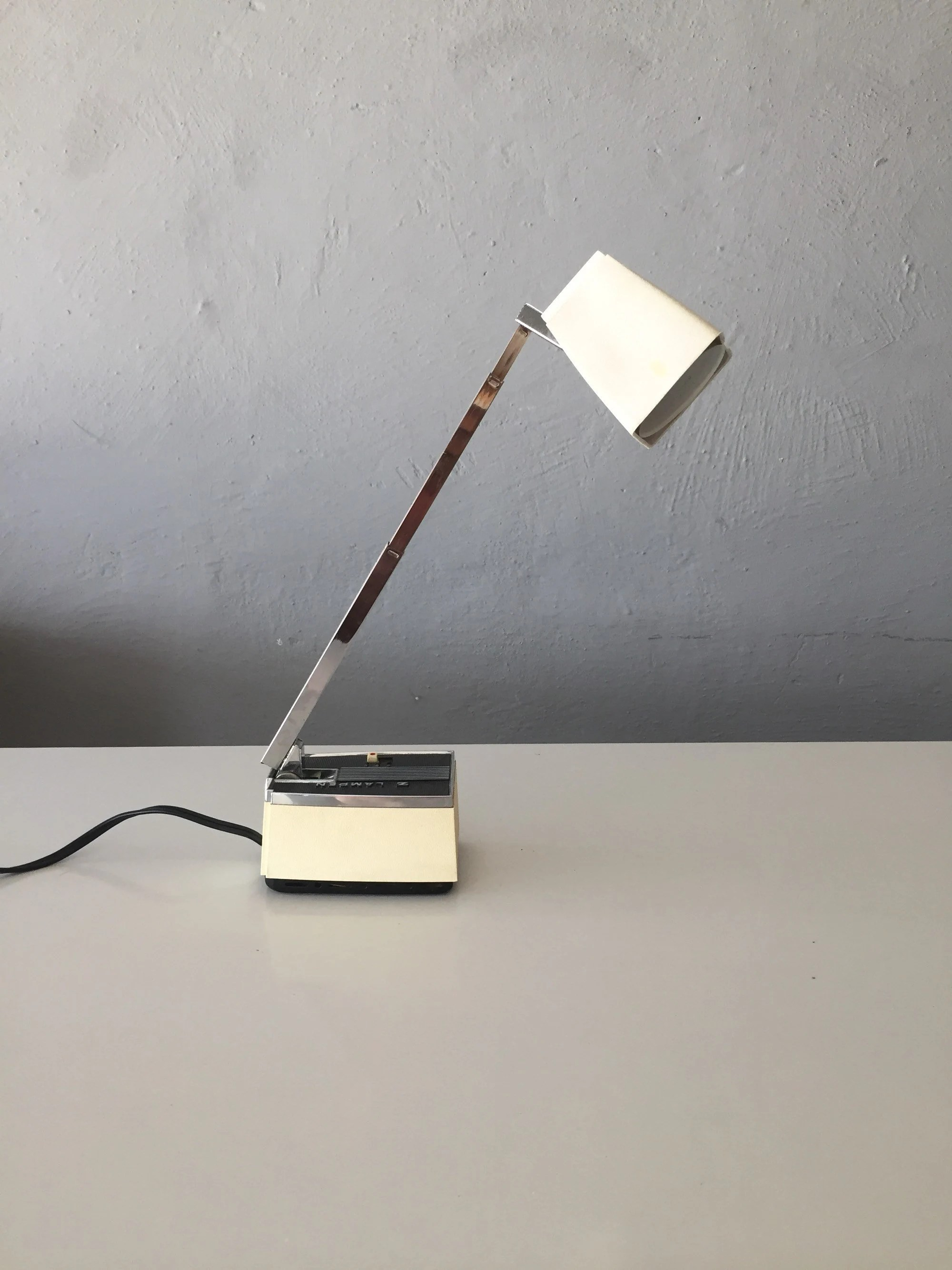 Lighting Lampen Z Lampen Desk Lamp Retro White And Black Table Lamp Adjustable Neck Available To Hang On Wall 60s Germany
