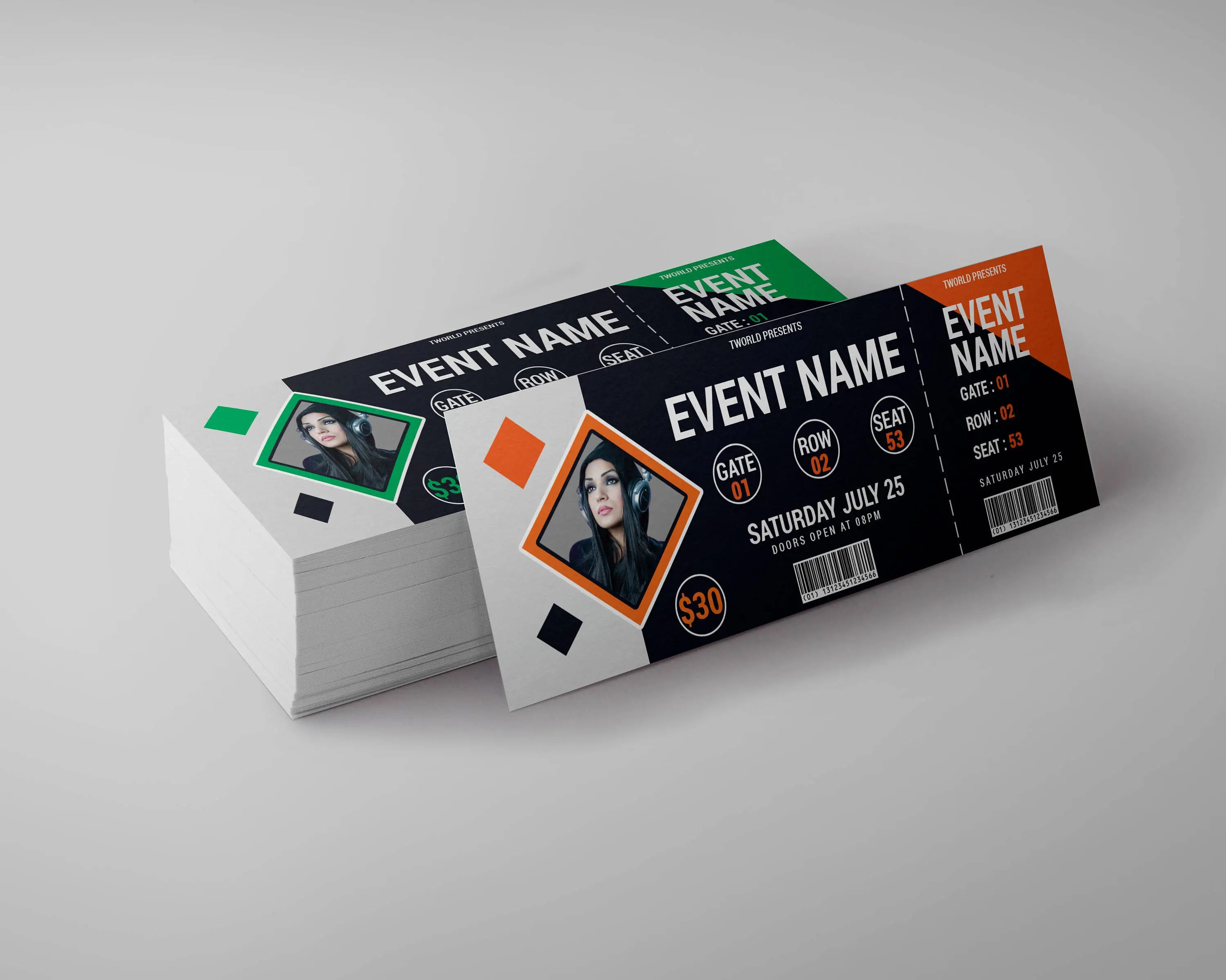 Event Ticket Design Template tickets club ticket concert Etsy