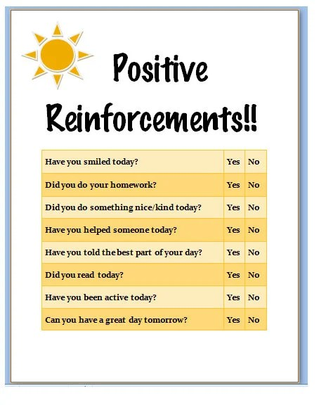 Positive Reinforcement Chart for Children a to-do list for Etsy