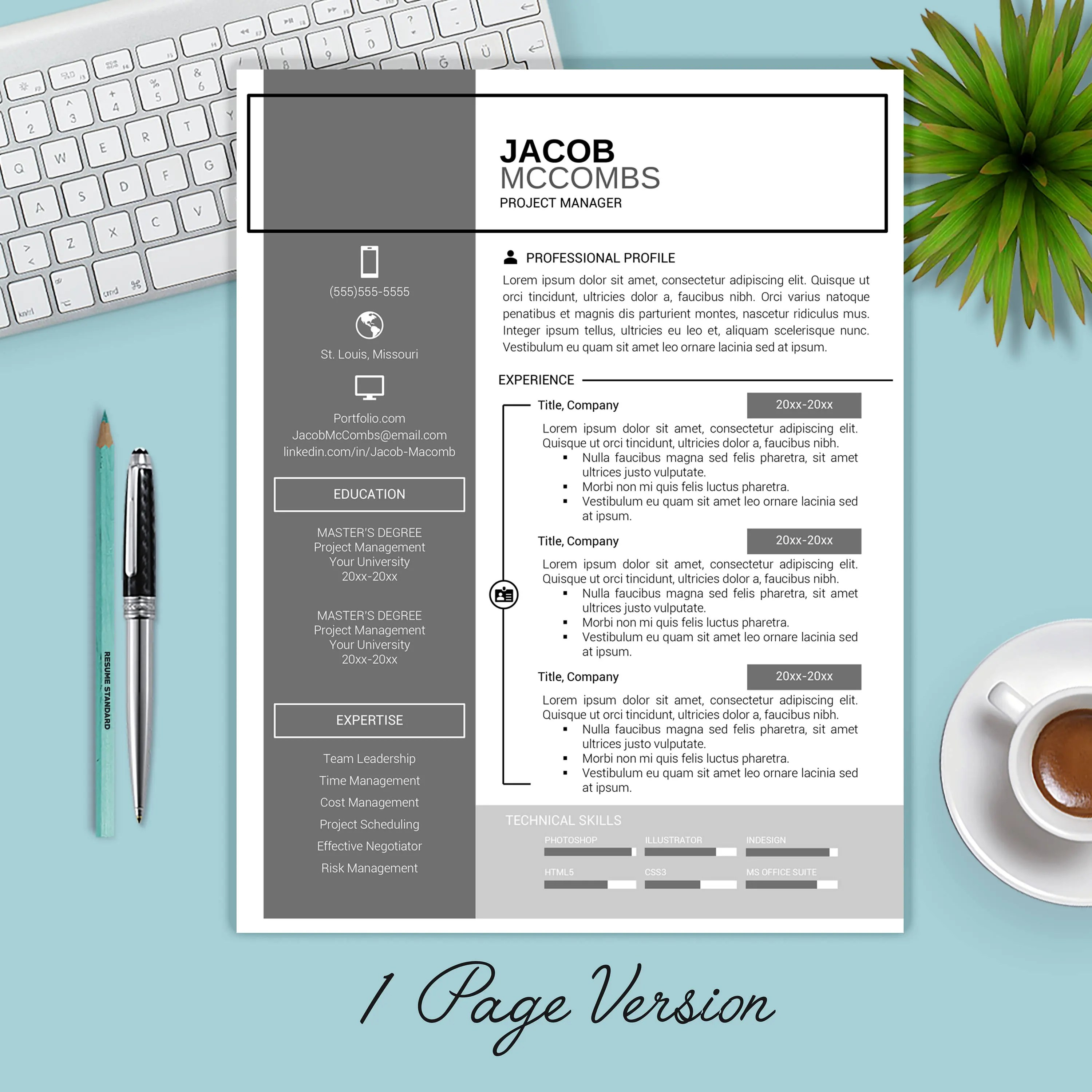 SALE Resume Template Instant Download / CV Template Cover Etsy