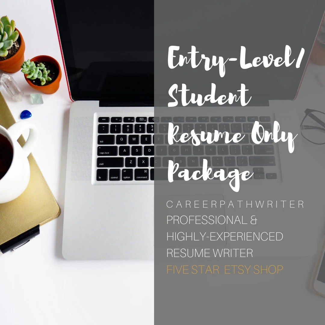 Student/Entry-Level Resume Writing Certified Resume Writer Etsy