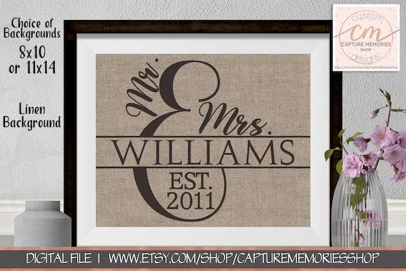 Personalized Family Name SignsFamily Name Sign Wedding GiftFamily