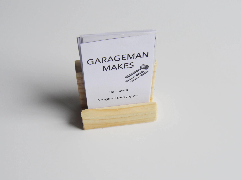 Portrait Business Card Holder Rustic Wooden Craft Fair Etsy