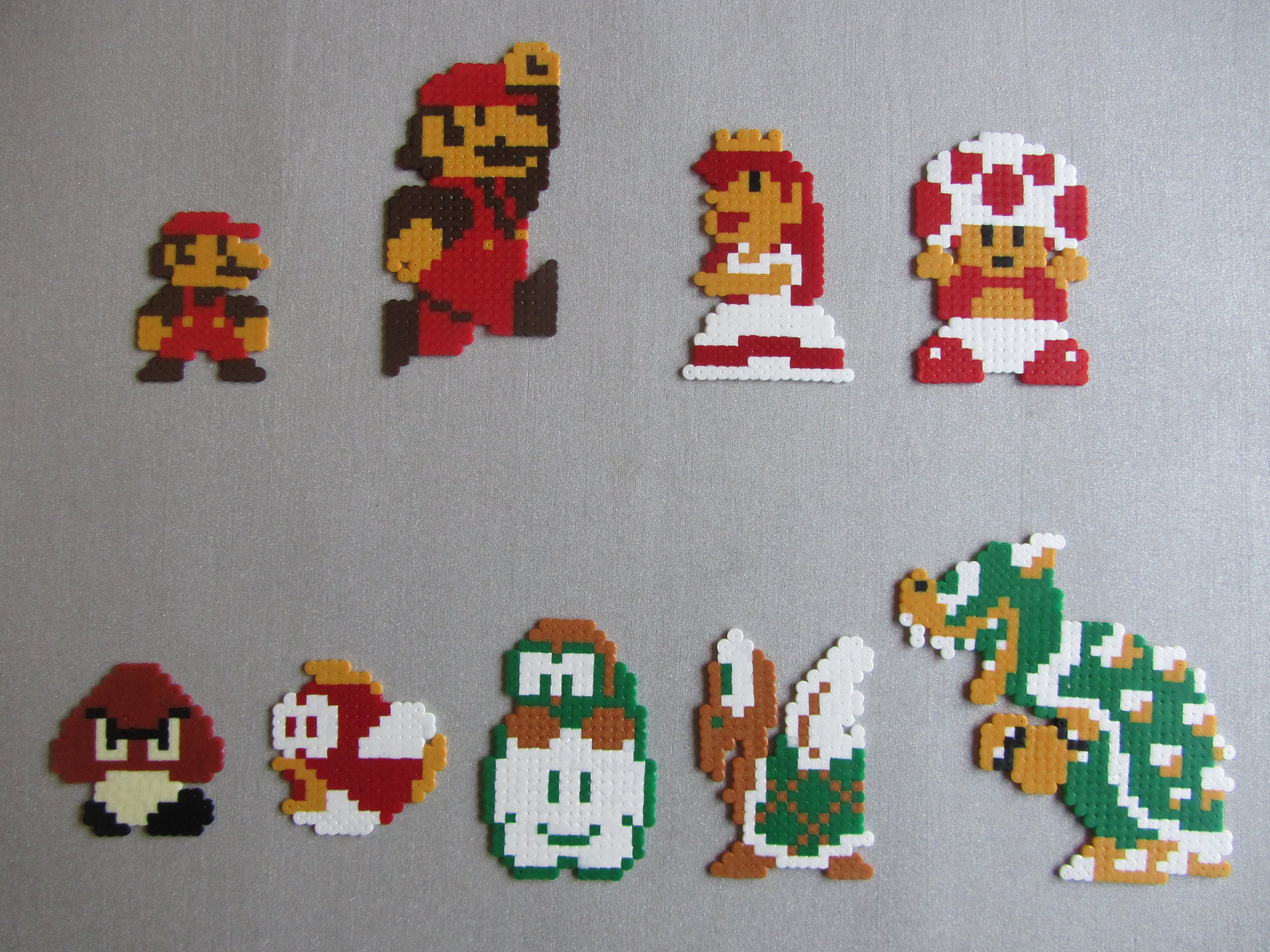 Super Mario Bettwäsche Mario Princess Peach Enemies And Other Characters From Super Mario Bros On The Nes Hama Bead Pixel Creation