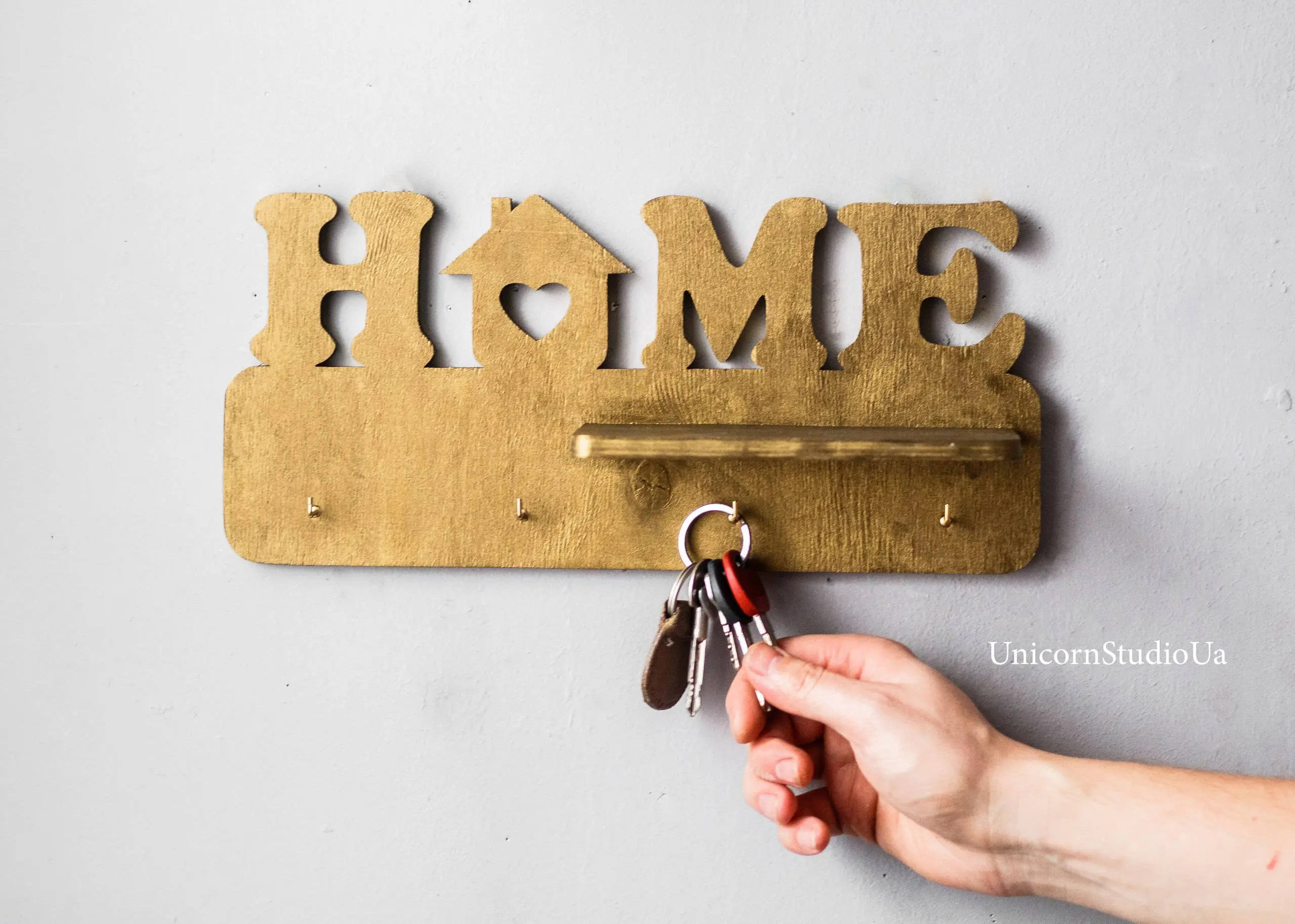 Home Key Holder For Wall Wooden