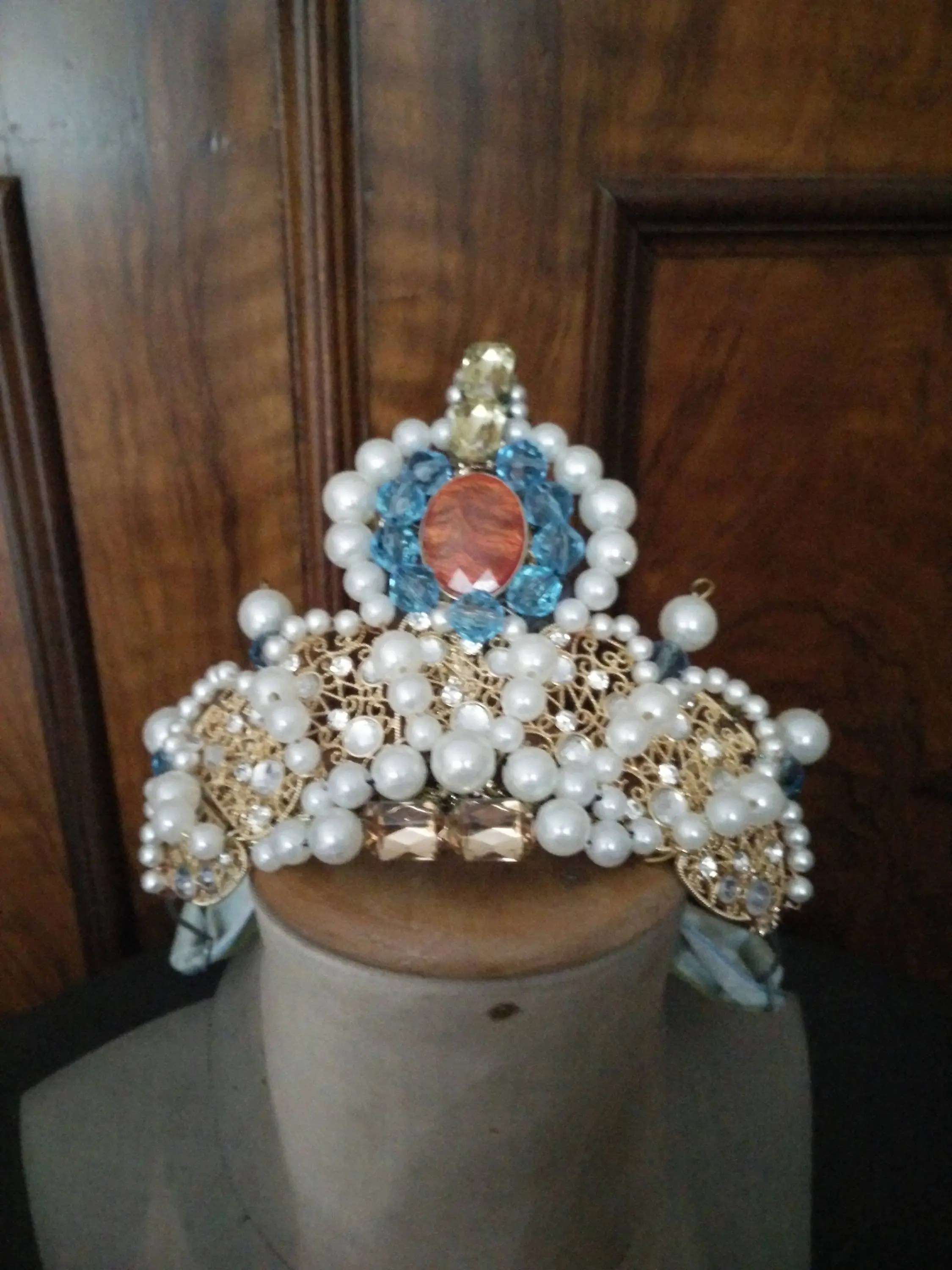 Shabby Chic Dekoration Theater Diadem Theater Tiara Varieté Burlesque Shabby Chic Dekoration Baroness Theater Prop