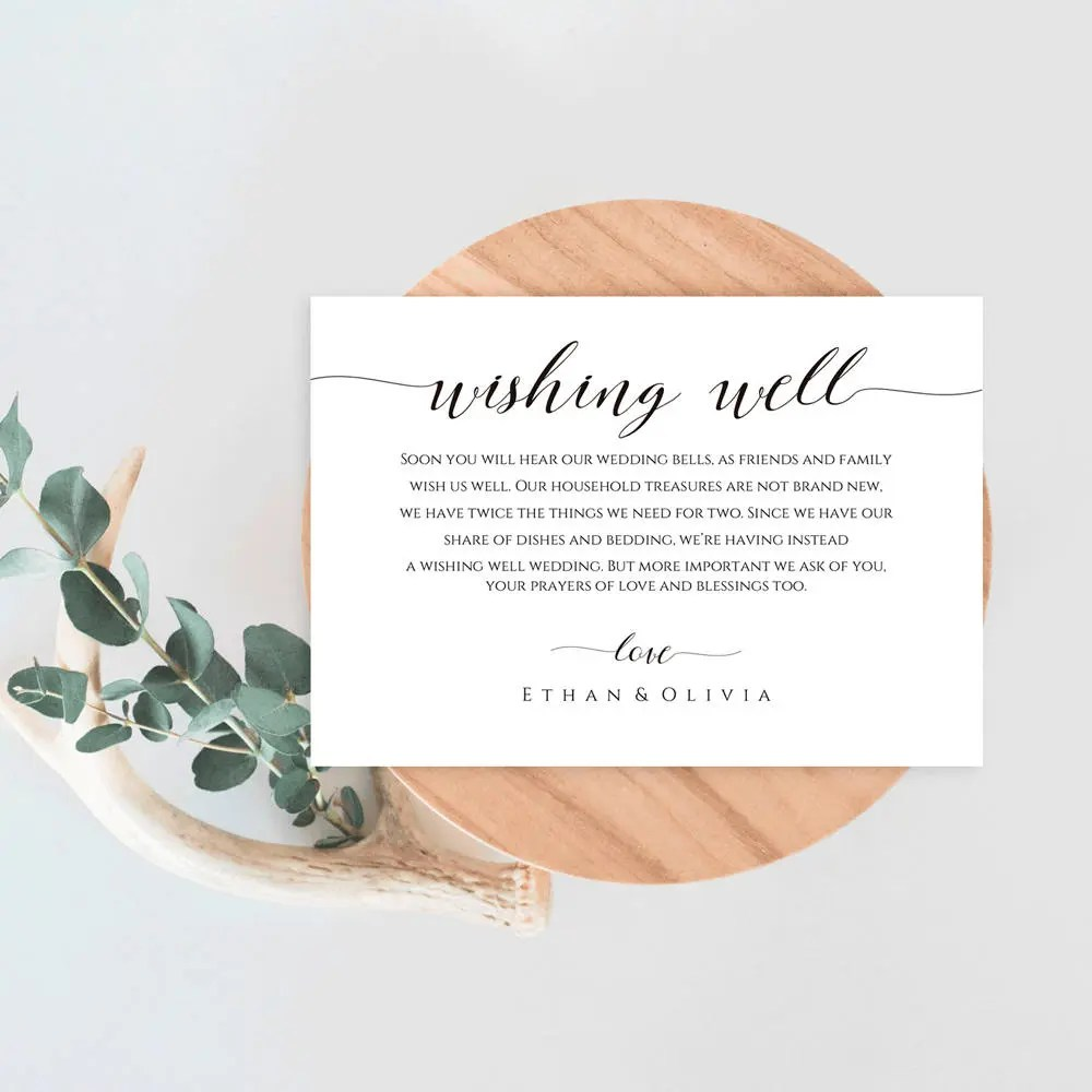 Printable WELL WISHES Card Template Editable Wedding Advice Etsy