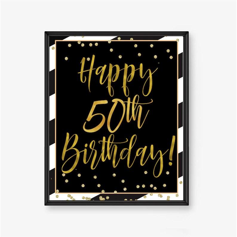 50th birthday poster man 50th birthday 50th party ideas Etsy