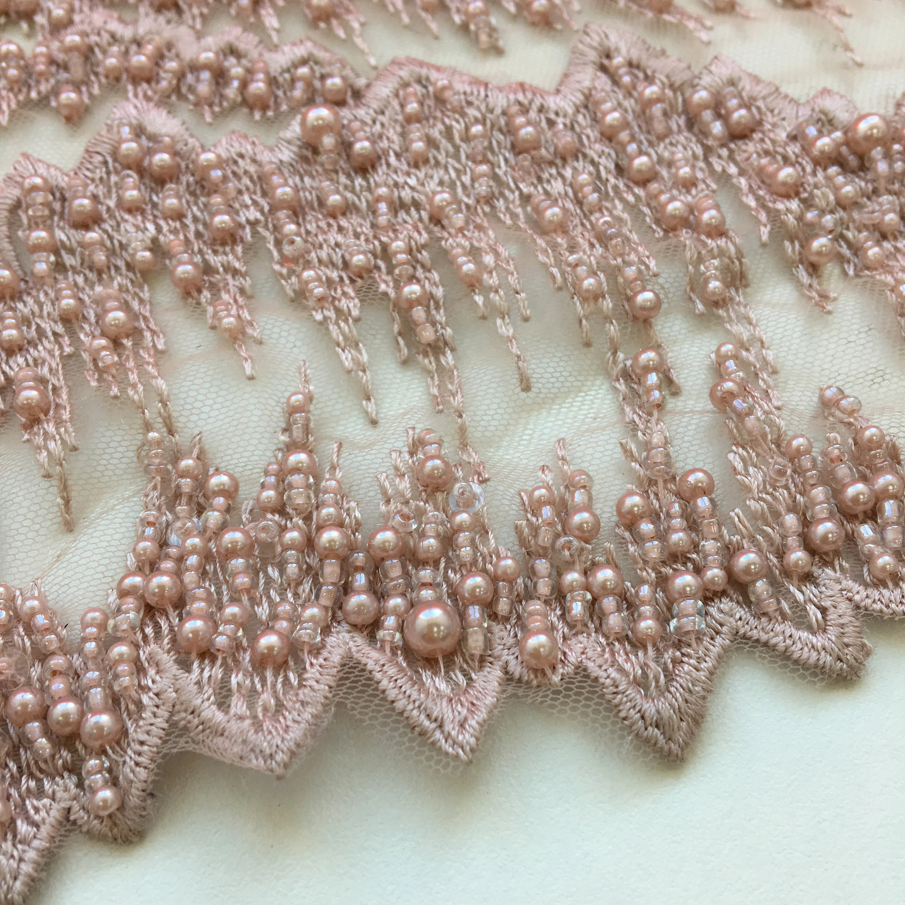Stoff Spitze 3d Old Pink Wedding Lace Fabric Ao 000130 3d Spitze Stoff 3d Dirty Rose Embroidered Beads For High Fashion Dresses Handmade Pearl Beads
